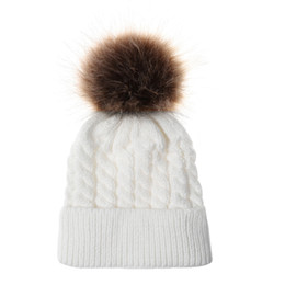 a77b260c60b427 Voneyesa Winter Hat New Children Acrylic Fashion Warm Knitting Beanie Hats  Winter Outdoor Cap Solid Beanies for Kids New Item