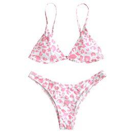 7221b92486 Swimming Bikinis UK - Women Leopard Bikini Push-Up Padded Bra Beach Set  Swimsuit Women