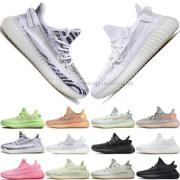Discount kanye west shoes online shopping - Discount Kanye West Clay V2 Static Reflective GID Glow In The Dark Mens Running Shoes True Form Women Men Sports Designer Sneakers US