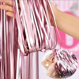 $enCountryForm.capitalKeyWord Australia - Gold Party Decor Silver Pink Blue Matte Metal Color Fringed Rain Curtain Wall Birthday Party Decoration Wedding Supplies SAD17
