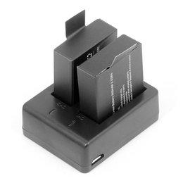 $enCountryForm.capitalKeyWord Australia - ALLOYSEED 2pcs 3.7V 900mAh Batteries+Dual USB Battery Charger for SJCM SJ4000 SJ5000