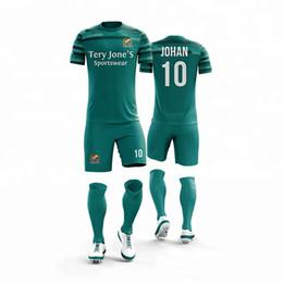 697d79cd26d Wholesale Men's personality short sleeve soccer jerseys men stripe football  jerseys adult plain soccer uniforms customize any logos