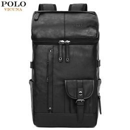$enCountryForm.capitalKeyWord Australia - VICUNA POLO High Capacity Large Mens Travel Backpack Bag Black Leather Man Backpack For Trip Laptop Backpack mochila masculinaMX190903
