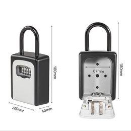 Modern Key Australia - 4-Digit Combination Lock Key Safe Storage Box Padlock Security Home Outdoor