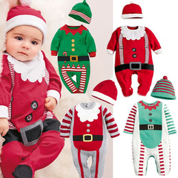 Childrens Red Tutus Australia - 2018 Autumn New Cotton Christmas Print Robes Baby Onesies Europe And America Baby Childrens Clothing