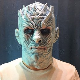 $enCountryForm.capitalKeyWord Australia - Film Game Thrones Night King Mask Halloween Realistic Scary Mask Cosplay Costume Latex Party Ball Masks Zombie Props Mask