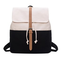 $enCountryForm.capitalKeyWord Australia - OCARDIAN Canvas Women's Backpack Retro Solid Color Canvas Backpack Girls Stitching Student Bag Travel Bag mochila feminina J21