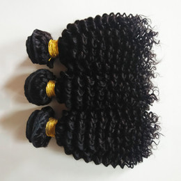 kinky hair extension factory NZ - Unprocessed Mink Brazilian Virgin human hair weft 8-28inch Kinky Curly hair Beauty Sexy Indian remy Hair extension Factory wholesale price