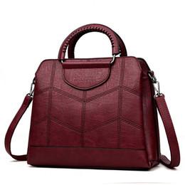 sac dress 2019 - 2019 Vintage Women Leather Bags Luxury Handbags Women Bags Designer Crossbody Bags for Women Leather Handbags Tote Sac A