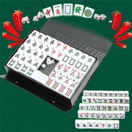 Portable board game online shopping - Entertainment Fun Family Board Games Gfits Top Tiles Portable Chinese MahJong Rare Game Set Retro Mah Jong Custom Fit Box