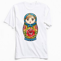 $enCountryForm.capitalKeyWord Australia - Kawaii T-shirt Printed Men T Shirts RUSSIAN NESTING DOLL Custom Gift Tshirt Matryoshka Cartoon Tops Tees Summer Clothes Cute