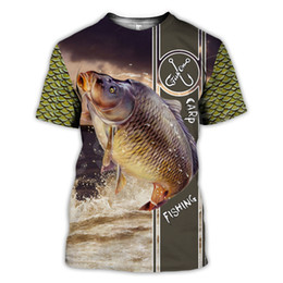 man deep v neck t shirt UK - Tessffel New Fashion Hot style Animal Deep Bass Fishing Funny Harajuku 3DPrint Short Sleeves Streetwear T-shirts Mens Womens s-2 CX200617