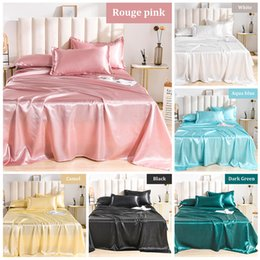 Wholesale Summer Bed sheet Luxury Satin Silk Bed sheets