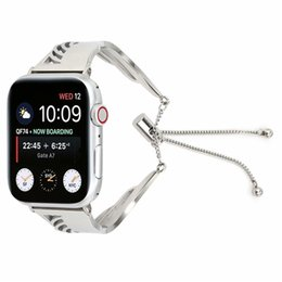 Wholesale Wing Bracelet Strap For Apple Watch Band mm Series mm Bracelet Replacement Link Generous Watchband For IWatch Girl Metal Wrist Belt