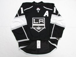 "anze kopitar jersey cheap NZ - Cheap custom Anze Kopitar LOS ANGELES KINGS HOME JERSEY WITH ""A"" stitch add any number any name Mens Hockey Jersey GOALIE CUT 5XL"