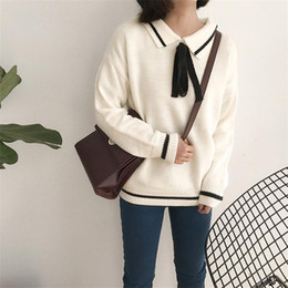 japanese clothing for women NZ - Casual Women's Sweaters Japanese Kawaii Korean Ulzzang Sweet Lace-up Sweater Female Harajuku Punk Cute Clothing For Women