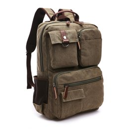 male laptop bags UK - Men Large Capacity Laptop Backpack Rucksack Canvas School Bag Travel Backpacks for Teenage Male Bagpack Computer Knapsack Bags