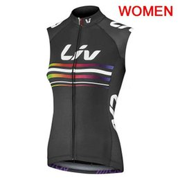 sleeveless women shirts Canada - Cycling Jersey 2019 LIV Women Cycling vest Summer sleeveless bike Wear Ropa Ciclismo Maillot Quick Dry Breathable bicycle shirts K052403