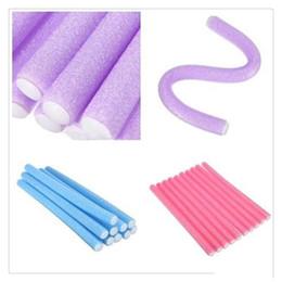 $enCountryForm.capitalKeyWord Australia - Magic Hair Roller Curlers Hair Curling Curler Soft Foam Bendy Twist Magic Flexi Rods DIY Styling Hair Sticks Tool Free Shipping
