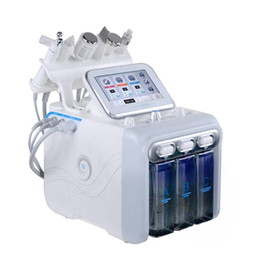 Hydra peel macHine online shopping - 6 in H2 O2 Hydra Dermabrasion Bubble RF Spa Facial Machine Oxygen facial machine Aqua peeling water jet beauty Machin