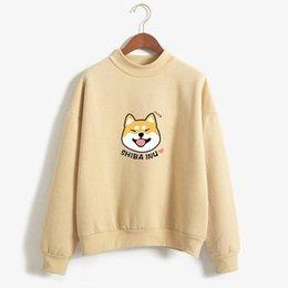 d39db8d27006 New Women Casual Huskie Print Hoodies Lady Long Sleeve Loose All Match Sweatshirts  Autumn Harajuku Cute Hooded