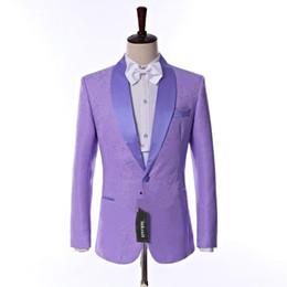 $enCountryForm.capitalKeyWord NZ - New Side Vent One Button Light Purple Embossing Wedding Groom Tuxedos Shawl Lapel Groomsmen Men Suits Prom Blazer (Jacket+Pants+Vest+Tie) 33