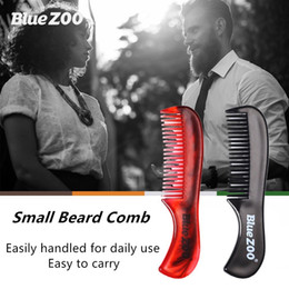 TemplaTe Tools online shopping - 1pcs Small Beard Comb for Men Styling Template Shaving Tool Hair Brush Moustache Comb Beard Trimming Grooming