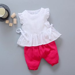 $enCountryForm.capitalKeyWord Australia - New Style 2017 Summer Baby Girls Clothes Sets Lace T Shirt+Shorts 2 Pcs Infant Suits Comfortable Cotton Kids Casual Suits Y18120801