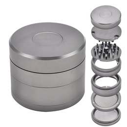 tobacco herb grinder aluminum Australia - Aluminum Metal Smoking Herb Grinder 63MM 4 Piece Detachable CNC Teeth Aluminum Metal Smoking Tobacco Grinders Fit Dry Herb Hand Muller