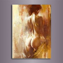 Sexy Decor Australia - High Quality Handpainted Modern Abstract Figure Art Oil Painting Sexy Naked Women On Canvas Wall Art Home Office Decor p79