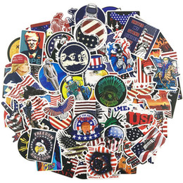 Usa Mirror Australia - 100Pcs Stickers American President USA flag Stickers Vinyl Waterproof Stickers Car Luggage Travel Case Skateboard Laptop decals