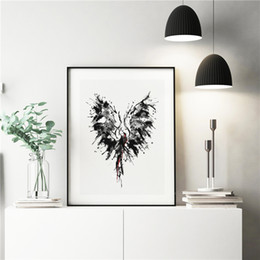 Phoenix Paintings Australia - The Abstract Phoenix Minimalist Animal Canvas Painting Wall Picture Poster And Print Decorative Home Decor