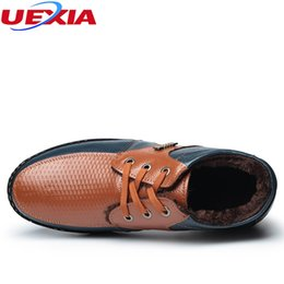 warm casual boots Australia - Hot Sale-UEXIA Winter With Comfortable And Warm Shoes Men's Leather Snow Boots Men Casual Shoes High Top Leisure Martin Ankle Zapatillas