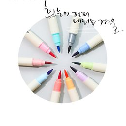 Highlighter Pen Colors Australia - 12 colors Highlighter account diary decoration pastel color marker pen student painting brush graffiti pen