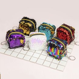 small coin purse for girls Canada - coin purse wallet sequined mini purse for women and children girl small purse wallet 2020 new style wholesale many color choose