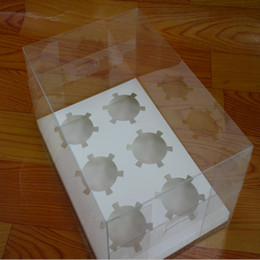 Plastic Handmade Pack Australia - 10set hold 2 4 6 Cupcake Clear Plastic Cupcake Bakery Box transparent Cup Cake Cookies pastry Baking packing Container free shipping