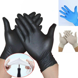 100Pcs Disposable Gloves Nitrile Latex Gloves Dishwashing Home Service Catering Hygiene Kitchen Garden Cleaning Gloves Wholesale In Stock US on Sale