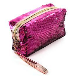 $enCountryForm.capitalKeyWord UK - New Fashion Women's Mermaid Sequins Makeup Bag Handbag Pouch Girls Glitter Cosmetic Bags Sequins Travel Storage Zipper