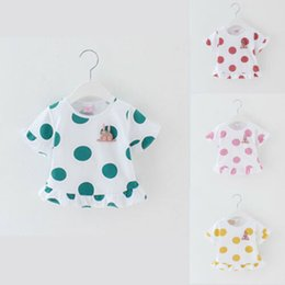 Girls Polka Dotted Shirt Australia - PUDCOCO UK Cute Infant Baby Girl Kid Polka Dot T-shirt Cotton Ruffle Sunsuit Summer Casual Clothes 0-3Y Top