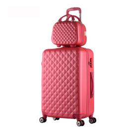 $enCountryForm.capitalKeyWord NZ - Hot fashion sales Diamond lines Trolley suitcase set travel case luggage Pull Rod trunk rolling spinner wheels ABS boarding bag