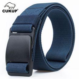 $enCountryForm.capitalKeyWord Canada - Cukup Men's 2019 New Brand Unisex No Metal Plastic Steel Buckle Belt Quality Canvas Elastic Belts Waistband Leisure Men Cbck120 C19041101