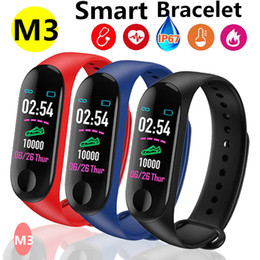 $enCountryForm.capitalKeyWord Australia - M3 Smart Wristband Big Touch Screen OLED Message False Heart Rate Time Fitness Bracelet Smartband Watch for Android IOS