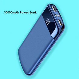 $enCountryForm.capitalKeyWord NZ - 30000mAh Power Bank External Battery Pack 2 USB LED Powerbank Portable Mobile Phone Charger for Xiaomi MI 9 Iphone XS Samsung LG