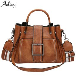 pink fashion handbags UK - Aelicy High Quality Brand Fashion Female Shoulder Bag Leather Retro Handbag Tote Bag For Office Lady Messenger Bag Women Small Y19062003