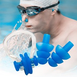 Nose gear online shopping - 5 Colors Soft Silicone Swimming Nose Clips Ear Plugs Earplugs Gear with A Case Box Set Pool Accessories Water Sports