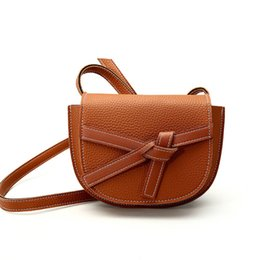 $enCountryForm.capitalKeyWord NZ - 2019 female Europe and the United States new pu bow saddle bag hit color shoulder package cosmetic bag