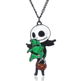 $enCountryForm.capitalKeyWord Australia - Wholesale Nightmare before Christmas Necklace Pendant Women Pumpkin king jack Jewelry Cosplay Party Gift Accessories