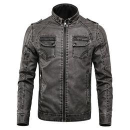 $enCountryForm.capitalKeyWord Australia - 2019 New Men Leather Jacket Coats Europe Vintage Winter Motorcycle Biker Jaqueta Couro Male Plus Velvet Wash Faux Leather Coats