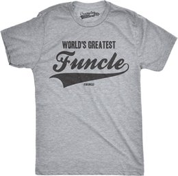 worlds funniest t shirts UK - Mens Worlds Greatest Funcle Funny Fun Uncle Family Relationship T shirt Size Discout Hot New Tshirt Cattt Windbreaker Pug Tshirt