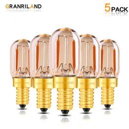 $enCountryForm.capitalKeyWord NZ - Tubular Edison LED Filament Night Bulb Amber Glass T22 1W 2200K E12 E14 Base 110V 220V Decorative Pendant Lighting Dimmable